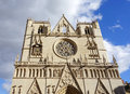 Saint Jean Cathedral in Lyon, France Royalty Free Stock Photo