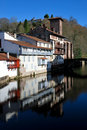 Saint-Jean-Pied-de-Port in basque province Stock Images