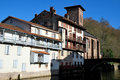 Saint-Jean-Pied-de-Port village in basque province Royalty Free Stock Photo