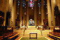 Saint john the divine main altar at one of largest cathedrals in world in new york city Royalty Free Stock Photography
