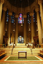 Saint john the divine main altar at one of largest cathedrals in world in new york city Royalty Free Stock Photos
