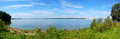 Saint lawrence river panorama new york state usa in city of ogdensburg ogdensburg city of and prescott city of canada are on Stock Photo