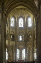 Saint-Leu (Picardie) - Gothic church interior Stock Image