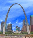 Saint Louis Arch and Old Courthouse Royalty Free Stock Photo