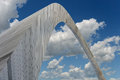 Saint louis arch viewed from below during bright day Stock Photo