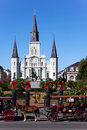 Saint Louis Cathedral Day Royalty Free Stock Photos