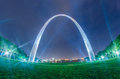 Saint louis gateway arch and downtown  skyline Royalty Free Stock Photo