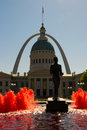 Saint Louis, Missouri - Old Courthouse and Gateway Arch Royalty Free Stock Photo