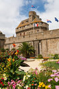 Saint-Malo City Wall & Guard Tower, France Royalty Free Stock Photos