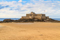 Saint malo view on fort national france brittany Stock Photo