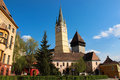Saint margaret evangelical church in medias built centuries ago gothic style sibiu county romania represents the citys most Stock Photography