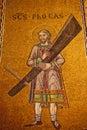 Saint Mark's Basilica Christ Mosaic Venice Italy Royalty Free Stock Photo