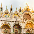Saint Mark's Basilica in San Marco square. Venice, Italy. Royalty Free Stock Photo