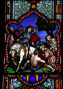 Saint Martin Stained Glass Window Royalty Free Stock Photo