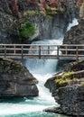 Saint Mary Falls and Bridge Royalty Free Stock Photo