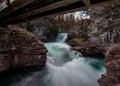 Saint Mary Falls Long Exposure Royalty Free Stock Photo