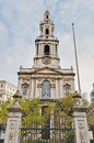 Saint mary le grand at london england church Royalty Free Stock Images