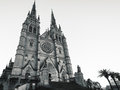 Saint Mary`s Cathedral in Sydney in Black and White