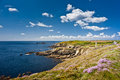 Saint mathieu ocean coast in brittany Stock Images