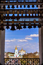 Saint Michael Cathedral St Sophia Cathedral Bell Tower Kiev Ukraine Royalty Free Stock Photo