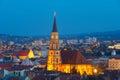 Saint Michael at twilight. Cluj-Napoca