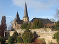Saint michaels church in fulda a city in hesse germany Stock Photo