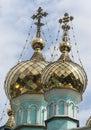 Saint nicholas church in almaty kazakhstan beautiful and colorful Stock Photos
