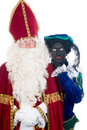 Saint Nicholas and his helper Royalty Free Stock Photos