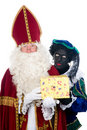 Saint Nicholas and his helper Royalty Free Stock Photography