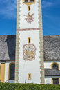 Saint nicolaus in mutters near innsbruck austria church the village of Royalty Free Stock Images