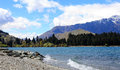 Saint omer park in queenstown new zealand Royalty Free Stock Image