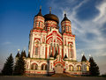 Saint Pantaleon Orthodox cathedral at dusk Royalty Free Stock Photo