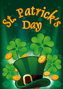 Saint Patric Days Plackard EPS 10 Royalty Free Stock Photography