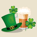 saint patrick day set icons Royalty Free Stock Photo