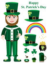 Saint Patrick Items Set_eps Stock Photos