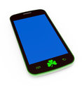 Saint patrick mobile phone d render illustration Stock Photo