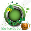 Saint Patrick rounded frame Stock Photos