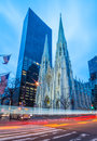 Saint Patrick's Cathedral, early morning, Manhattan, New York, USA Royalty Free Stock Photo