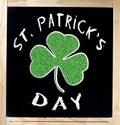 Saint Patrick s Day on Blackboard Royalty Free Stock Photography