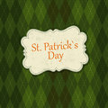 Saint Patrick's Day Card Design Template Stock Photography