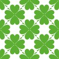 Saint Patrick's day design - Four leaf clover seamless pattern Royalty Free Stock Photo