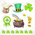 Saint Patrick`s day elements set Royalty Free Stock Photos
