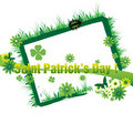 Saint Patrick's Day floral frame Royalty Free Stock Photos