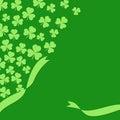 Saint Patrick`s day green background