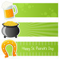 Saint Patrick s Day Horizontal Banners Stock Photography