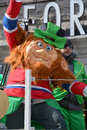 Saint patrick s day parade montreal canada march participant at the annual on march in montreal canada montreal st Royalty Free Stock Photography