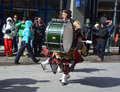 Saint patrick s day parade montreal canada march participant at the annual on march in montreal canada montreal st Stock Image