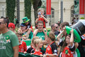 Saint Patrick`s Day parade participants Royalty Free Stock Photo