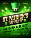 Saint Patrick`s Day party celebration poster design