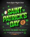 Saint Patrick`s Day party poster design